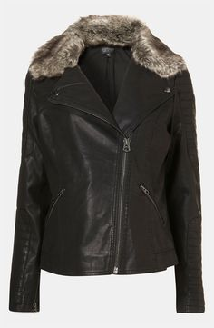 Topshop Maternity 'Maddox' Faux Leather Jacket