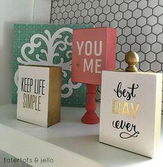 Wood Block Gift Idea! Perfect gift idea, or easy craft!! -- Tatertots and Jello