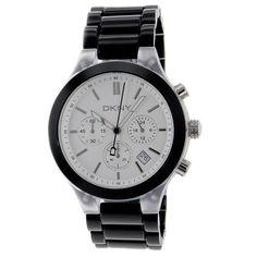 DKNY Chronograph Silver Dial Black Aluminum Ladies Watch NY8264 DKNY. $94.38. Save 30%!