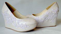 Zapatos de Novia, Rodrigo Hernández Color Blanco con Encaje Búscanos en Facebook Rodrigo Hernandez