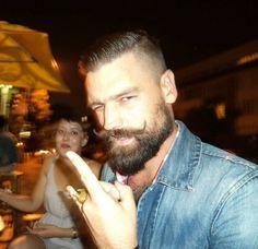 handlebar + beard