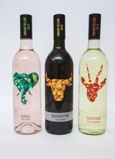 Indian Wine Label by Himanshi Shah, via Behance