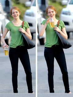 Emma Stone on the set of La La Land (August 21, 2015)