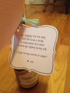 Cute way to ask your bridesmaids..
