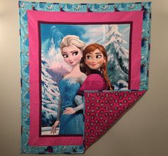Gift for a Girl  Disney's Frozen Quilt: Elsa by MerrilynsQuilts