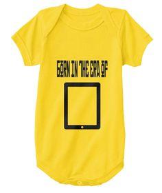"""Born in the era of smartphones"" Onesie Funny Tank Tops, Funny Tees, Funny Tshirts, Cute Bodysuits, Funny Hoodies, Tees For Women, Funny Babies, Baby Bodysuit, Onesies"