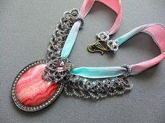 Bead Embroidery Soutache Fashion Jewelry Vintage by DASHARTSTUDIO, $122.00