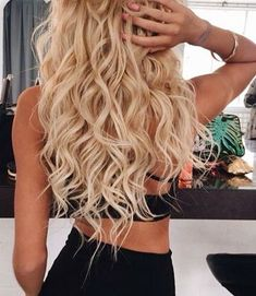 21 Best Long Curly Blonde Hair Images Curly Hair Styles