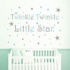 Twinkle Twinkle Little Star Wall Decal - Nursery Wall Decal - Baby Room Decal - Twinkle little star wall decor - Nursery wall art - Wall art | Pinterest ...  sc 1 st  Pinterest & Twinkle Twinkle Little Star Wall Decal - Nursery Wall Decal - Baby ...