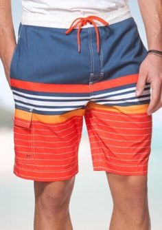 chaps big tall striped board shorts