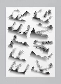 Flere plakater for Südpol Typo Poster, Typographic Poster, Typography Logo, Graphic Design Posters, Graphic Design Typography, Graphic Design Inspiration, Creative Inspiration, Lettering Design, Design Graphique