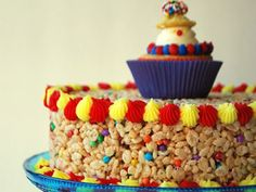 Crispy Carnival Cake. Super easy. Super cute.