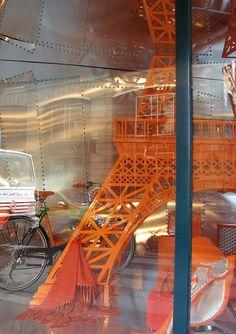 Hermes window, Paris by lorimarsha, via Flickr