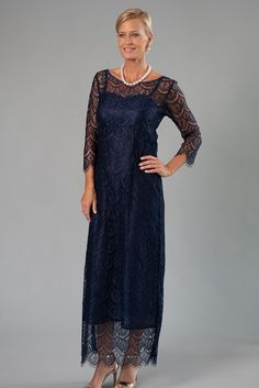 Living Silk UK - Dresses and two piece outfits for the Mother of The Bride / Groom - Li Mother Of Groom Dresses, Bride Groom Dress, Mother Of The Bride, Winter Wedding Attire, Fall Wedding Outfits, Formal Wedding, Lace Tea Length Dress, Tea Length Dresses, Mob Dresses