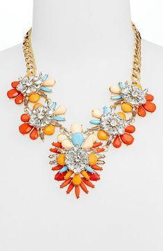 Cara Stone & Crystal Bib Necklace | Nordstrom