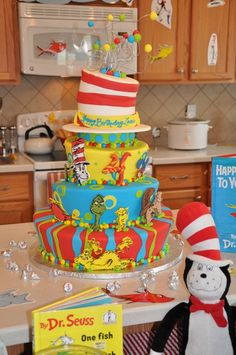 Dr. Seuss Party! @Stacie Johnson is gonna have her work cut out for her if I decide to do this theme! ;-)
