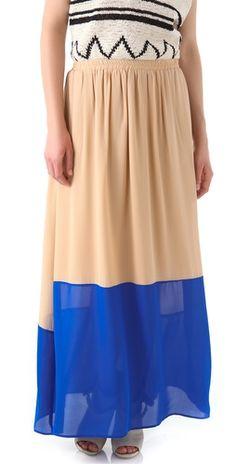Galapagos Maxi Skirt by GAR-DE, via ShopBop #BurnOutSummers
