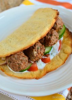 Slimming Eats Lamb Kofta with Sweet Potato Flatbread - Gluten Free, Dairy Free, Paleo, Slimming World and Weight Watchers friendly