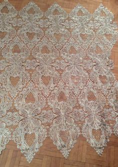 Gold Lace Corded Gold Lace Gold Gold Mesh Fabric by Threads2Trends