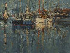 """Evening Descends, 12"""" x 16"""", Oil, 2015"""