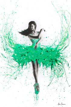 Southern Jade Ballerina I by Ashvin Harrison is printed with premium inks for brilliant color and then hand-stretched over museum quality stretcher bars. Money Back Guarantee AND Free Return Shipping. Ballerina Painting, Ballerina Art, Ballet Art, Ballerina Project, Ballet Dancers, Ballet Drawings, Art Drawings, Dance Paintings, Art Corner