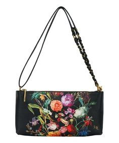 Another great find on #zulily! Black & Coral Floral Artisan Clutch #zulilyfinds