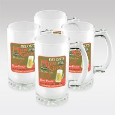 Personalized Frosted Beer Mugs Set. $49.95