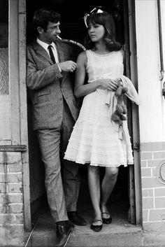 Anna Karina's white ruffle dress, Pierrot Le Fou, 1964