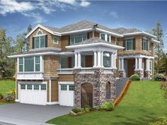 Craftsman Style 2 story 3 bedrooms(s) House Plan with 3220 total square feet and 2 Full Bathroom(s) from Dream Home Source House Plans