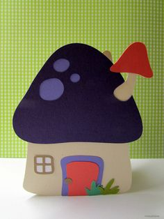 This is the cutest mushroom house I've ever seen!