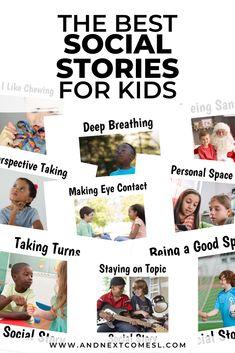 Printable social stories for kids and social story templates Preschool Social Skills, Social Skills Autism, Social Emotional Activities, Social Skills Lessons, Social Skills For Kids, Autism Education, Autism Activities, Life Skills, Autism Parenting