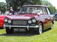 A lovely Triumph Vitesse is seen attending the 2017 Festival of Transport at Stockwood Park, Luton. Classic Cars British, British Sports Cars, Ford Classic Cars, British Car, Coventry, Vintage Cars, Antique Cars, Automobile, Morris Minor