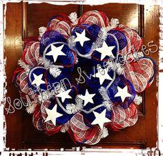 American Flag Fourth of July Wreath!