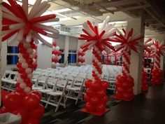 Balloon Columns, Balloon Arch, Balloons, Balloon Decorations, Beach Party, Candy Cane, Red And White, Bouquet, Gift Wrapping