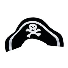 """Make any seaworthy mission more enjoyable with these Child Pirate Hats! Featuring a scary skull and crossbones design, these felt pirate hats are perfect for pirate costumes! Wear them for Halloween or any pirate themed party. 19"""" © OTC"""
