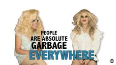 Trixie Mattel and Katya Zamolodchikova I Am A Queen, Save The Queen, Rupaul Drag Queen, Katya Zamolodchikova, Trixie And Katya, Senior Quotes, Drag Queens, Funny Relatable Memes, Reaction Pictures