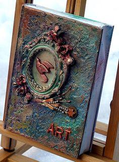 A sweet little Art Journal ( A 5 ) made by Irene Wijnands Porebski