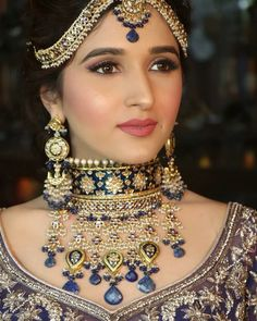 Best Bridal Makeup Inspirations to bring out Diva in You - Fashion Best Bridal Makeup, Wedding Day Makeup, Bridal Makeup Looks, Indian Bridal Makeup, Indian Wedding Jewelry, Indian Jewelry, Bridal Jewelry, Wedding Bride, Indian Weddings