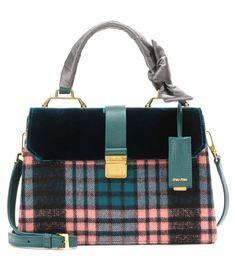 mytheresa.com - Velvet-Trimmed Tote - Miu Miu » mytheresa.com - Luxury Fashion for Women / Designer clothing, shoes, bags
