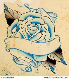 Rose Tatoo with blue, I would love to add a hint of red