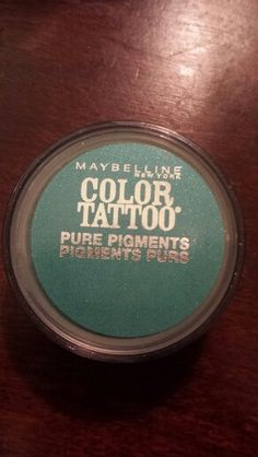 "Traded to Casey - Only used a couple of times - maybelline color tattoo pure pigment in ""never fade jade"""