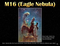 Entitled M16 Eagle Nebula This Pin Is From The Book