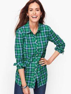 Talbots Classic Flannel Shirt - Juniper Ivy Plaid