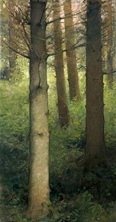 """Charles Weed, """"Pine Forest"""""""