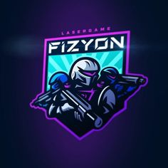 Warriors of future ⚡️for lasertag team FIZYON Typography Logo, Art Logo, Team Logo Design, Sport Design, Robot Logo, Logo Process, Sports Team Logos, Esports Logo, Love Logo