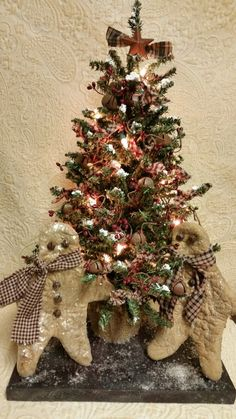 Hey, I found this really awesome Etsy listing at https://www.etsy.com/listing/169739337/primprimitivegingerbreadchristmastreehan