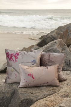 Lulu Lemon Leaf Pillows | Aviva Stanoff Design