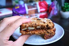 A delicious gluten-free breakfast sandwich with cinnamon raisin bread and an apple butter spread thanks to Canyon Bakehouse! Gluten Free Recipes For Breakfast, Gluten Free Breakfasts, Cinnamon Raisin Bread, Sandwich Ingredients, How To Make Sandwich, Piece Of Bread, Apple Butter, My Recipes, Sandwiches