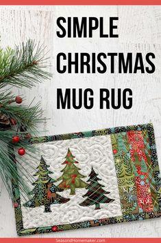 Christmas Mug Rugs, Christmas Tree Design, Christmas Snowflakes, Simple Christmas, Christmas Crafts, Christmas Ideas, Christmas Tables, Coastal Christmas, Modern Christmas