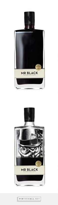 MR BLACK - cold drip coffee liqueur with a stylishly simple design on the bottle